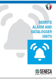 Flyer range of remote alarm units and dataloggers